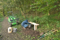 Installing new Commemorative Bench Lower Woodland Path