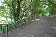 Replacement Security Rails on the Lower Woodland Path